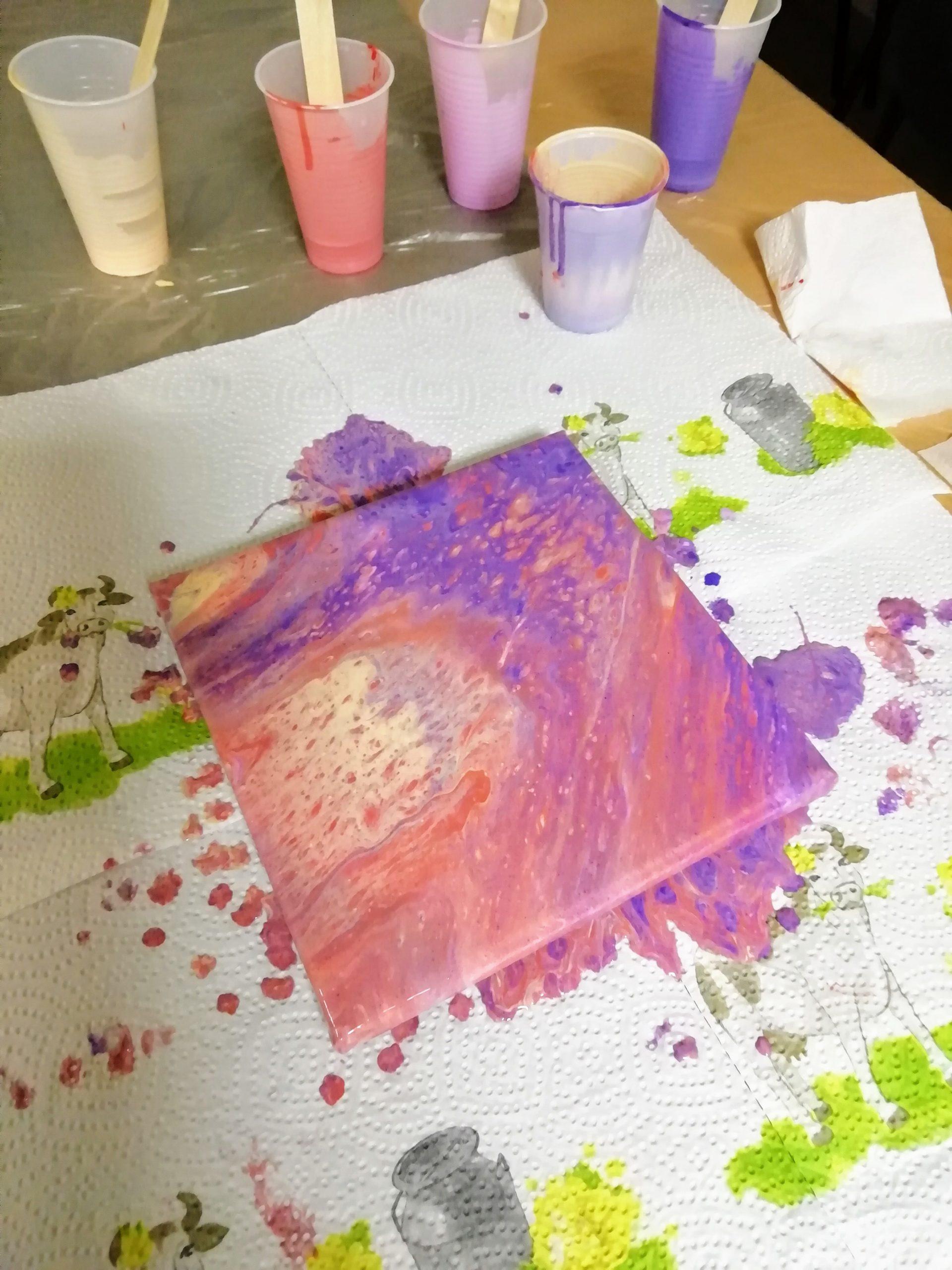 Acryl gießen Workshop